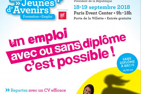 Rencontrez WebForce 3 au Salon Jeunes d'Avenirs (Paris) les 18 et 19 septembre