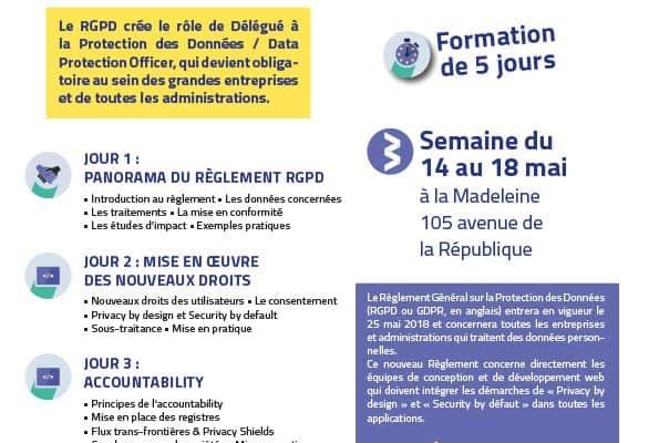 Du 14 au 18 mai, WebForce 3 Lille accueillera la première session de Data Protection Officer