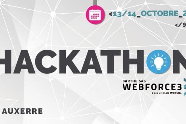 Hackathon les 13 et 14 octobre à Auxerre