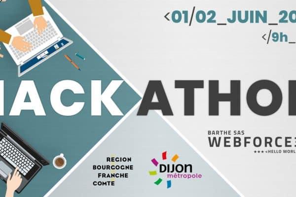 3ème HACKATHON👨💻👩💼 de WebForce 3 Bourgogne les 1 et 2 Juin 2019 !