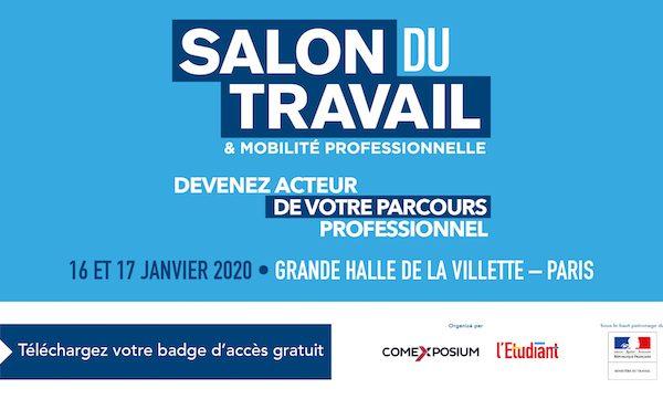 WebForce3 sera au Salon du Travail et de la Mobilité Professionnelle à Paris