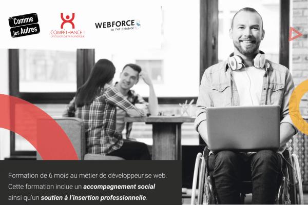 Handicap et Alternance : WebForce3 développe son programme adapté de formations aux métiers du numérique