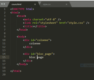 formation html css