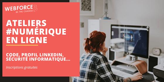 Ateliers #Numérique : Pôle Emploi et WebForce3 proposent de développer des compétences numériques